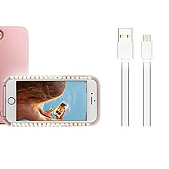 billige iPhone-etuier-Etui Til Apple iPhone X iPhone 8 Plus LED Bagcover Jul Blødt PC for iPhone X iPhone 8 Plus iPhone 8 iPhone 7 Plus iPhone 7