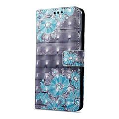 Недорогие Чехлы и кейсы для Huawei Mate-Кейс для Назначение OnePlus Mate 10 pro Mate 10 lite Бумажник для карт Кошелек со стендом Флип Магнитный С узором Чехол Цветы Твердый