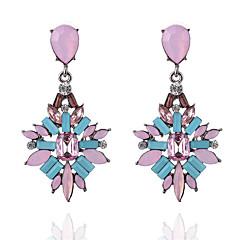 preiswerte Ohrringe-Damen Opal Tropfen-Ohrringe - Harz, Opal Tropfen Modisch Purpur / Blau / Rosa Für Ausgehen Büro & Karriere
