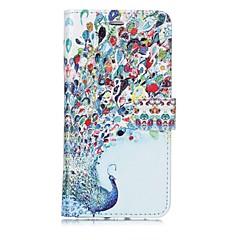 Недорогие Кейсы для iPhone-Кейс для Назначение Apple iPhone X iPhone 8 Бумажник для карт Кошелек Флип Магнитный С узором Чехол Животное Твердый Кожа PU для iPhone X