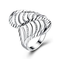 preiswerte Ringe-Damen Kubikzirkonia Bandring - versilbert Modisch 6 / 7 / 8 / 9 Silber Für Geschenk Alltag