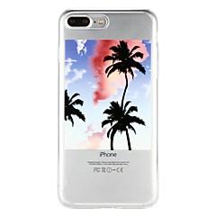 Недорогие Кейсы для iPhone 6-Кейс для Назначение Apple iPhone 6 iPhone 7 Полупрозрачный С узором Рельефный Кейс на заднюю панель Пейзаж дерево Мягкий ТПУ для iPhone X