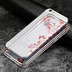 Недорогие Кейсы для iPhone 5-Кейс для Назначение Apple iPhone X / iPhone 8 / iPhone 6 Plus IMD / Ультратонкий / Прозрачный Кейс на заднюю панель Цветы Мягкий ТПУ для iPhone X / iPhone 8 Pluss / iPhone 8