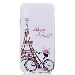 voordelige iPhone 6 hoesjes-hoesje Voor Apple iPhone X iPhone 8 Plus Transparant Patroon Achterkant Eiffeltoren Zacht TPU voor iPhone X iPhone 8 Plus iPhone 8 iPhone