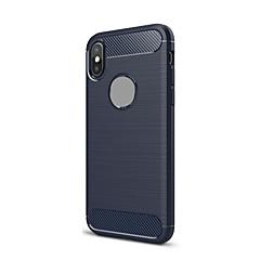 Недорогие Кейсы для iPhone 7-Кейс для Назначение Apple iPhone X iPhone 7 Plus Ультратонкий Сплошной цвет Мягкий для Apple