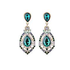 tanie Biżuteria damska-Damskie Kolczyki wiszące Kryształ Rhinestone Na co dzień Modny Kryształ Imitacja diamentu Stop Kropla Biżuteria Codzienny Wyjściowe