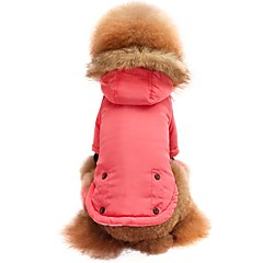 cheap Dog Supplies-Cat Dog Shirt / T-Shirt Sweatshirt Hoodie Dog Clothes Solid Colored Pink Nylon fiber Cotton Fabric Costume For Pets Men's Women's Stylish