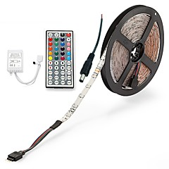 cheap LED Strip Lights-ZDM® 300 LEDs 5M LED Strip Light 1 44Keys Remote Controller 1 AC Cable RGB Cuttable DC 12V