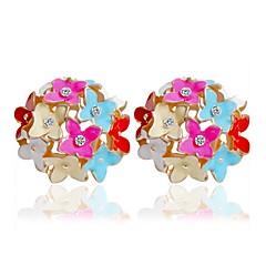 abordables Bijoux pour Femme-Femme Boucles d'oreille goujon - Fleurs / Botaniques, Fleur, Clover Coloré Arc-en-ciel / Rouge / Rose Pour Casual Quotidien