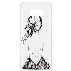 Χαμηλού Κόστους Galaxy S6 Θήκες / Καλύμματα-tok Για Samsung Galaxy S8 S7 Στρας Με σχέδια Ανάγλυφη Πίσω Κάλυμμα Σέξι κυρία Λουλούδι Κινούμενα σχέδια Σκληρή PC για S8 Plus S8 S7 edge