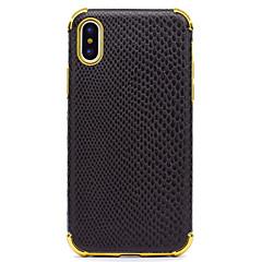 Недорогие Кейсы для iPhone 6 Plus-Кейс для Назначение Apple iPhone X iPhone 8 Защита от удара Покрытие Задняя крышка Полосы / волосы Мягкий Искусственная кожа для iPhone X