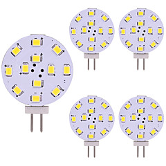 お買い得  LED 電球-5個 2W 180lm G4 LED2本ピン電球 12 LEDビーズ SMD 2835 LEDライト 温白色 クールホワイト 12V