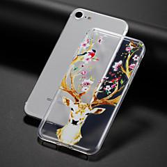 お買い得  iPhone 5S/SE ケース-ケース 用途 Apple iPhone 7 Plus iPhone 7 クリア パターン エンボス加工 バックカバー フラワー 動物 ソフト TPU のために iPhone 7 Plus iPhone 7 iPhone 6s Plus iPhone 6s iPhone 6