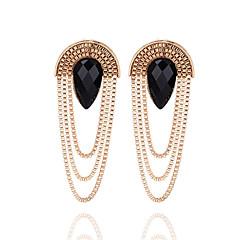preiswerte Ohrringe-Damen Obsidian Quaste Tropfen-Ohrringe - Edelstein Tropfen Quaste, Modisch Gold Für Zeremonie / Formal