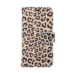 Недорогие Кейсы для iPhone-Кейс для Назначение Apple iPhone X iPhone 8 Plus Бумажник для карт со стендом Чехол Леопардовый принт Твердый Кожа PU для iPhone X iPhone