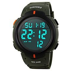 お買い得  大特価腕時計-SKMEI 男性用 デジタル スポーツウォッチ 中国 カレンダー 耐水 カジュアルウォッチ 夜光計 ストップウォッチ PU バンド ぜいたく カジュアル ファッション クール ブラック