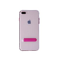 Недорогие Кейсы для iPhone 7-Кейс для Назначение Apple iPhone 8 / iPhone 8 Plus со стендом Чехол Однотонный Мягкий ТПУ для iPhone 8 Pluss / iPhone 8