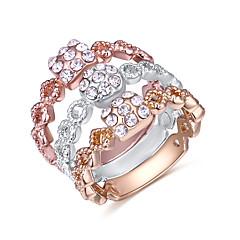 preiswerte Ringe-Damen Knöchel-Ring - Zirkon Europäisch, Modisch 7 Gold Für Alltag / 3 Stück