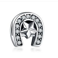 abordables Perlas-Joyería DIY 1 PC Cuentas Diamante Sintético Legierung Blanco Morado Irregular Talón 0.2 cm DIY Gargantillas Pulseras y Brazaletes