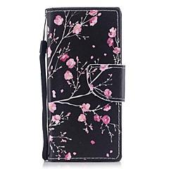 Недорогие Чехлы и кейсы для Sony-Кейс для Назначение Sony Sony Xperia XA Xperia XZ1 Compact Xperia XZ1 Бумажник для карт Кошелек со стендом Флип Магнитный С узором Чехол