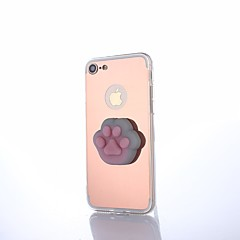 Недорогие Кейсы для iPhone-Кейс для Назначение Apple iPhone X iPhone 8 Зеркальная поверхность болотистый Своими руками Кейс на заднюю панель Мультипликация Животное