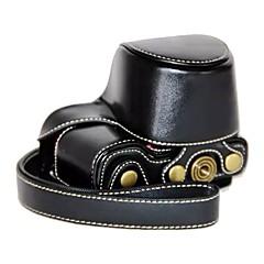 お買い得  ケース、バッグ & ストラップ-dengpin puの革のカメラの袋カバーソニーa5100 a5000 ilce-5100l 16-50レンズ(色の盛り合わせ)