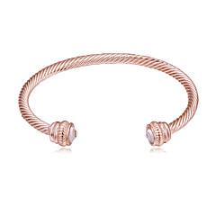 preiswerte Armbänder-Damen Manschetten-Armbänder - Einfach, Europäisch, Modisch Armbänder Gold / Silber / Rotgold Für Normal Alltag
