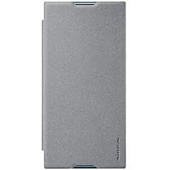 Недорогие Чехлы и кейсы для Sony-Nillkin Кейс для Назначение Sony Xperia XZ1 / Xperia X compact Бумажник для карт / Флип / Матовое Чехол Однотонный Твердый Кожа PU для Xperia XZ1 Compact / Sony Xperia XZ1 / Xperia XA1 Plus