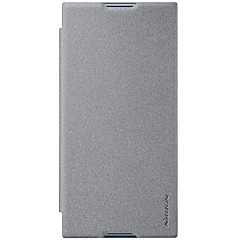 billige Etuier til Sony-Etui Til Sony Xperia XZ1 Xperia X compact Kortholder Flip Syrematteret Fuldt etui Helfarve Hårdt PU Læder for Xperia XZ1 Compact Sony