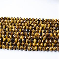お買い得  ビーズ&ジュエリー製作-DIYジュエリー 65 個 ビーズ クリスタル イエロー 円形 ビーズ 0.6 cm DIY ネックレス ブレスレット