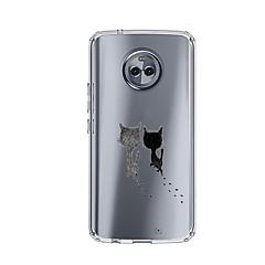 Недорогие Чехлы и кейсы для Motorola-Кейс для Назначение Motorola E4 Plus 5 С узором Кейс на заднюю панель Кот Мягкий ТПУ для Moto X4 Moto E4 Plus Moto E4
