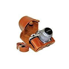 お買い得  ケース、バッグ & ストラップ-オリンパスe-m10マークiii em10 mark3用のdengpin puレザーカメラケースバッグカバー(色が揃っています)