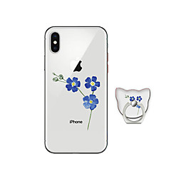 cheap Sizzling Savings-Case For Apple iPhone X iPhone 8 Plus with Stand Back Cover Flower Soft TPU for iPhone X iPhone 8 Plus iPhone 8 iPhone 7 Plus iPhone 7
