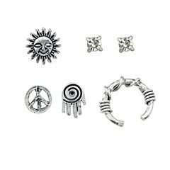 preiswerte Ohrringe-Damen Ohrstecker / Klips / Ohr-Stulpen - Sonne Grundlegend, Rockig Silber Für Alltag / Verabredung