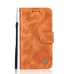 tanie Etui do iPhone 5S / SE-Kılıf Na Apple iPhone X iPhone 8 Plus Etui na karty Portfel Z podpórką Flip Pełne etui Solid Color Twarde Skóra PU na iPhone X iPhone 8