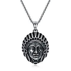 preiswerte Halsketten-Herrn Anhängerketten - Edelstahl Erklärung, Europäisch, Gothic Silber Modische Halsketten Schmuck 1 Für Strasse, Neujahr