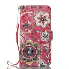 Недорогие Кейсы для iPhone X-Кейс для Назначение Apple iPhone X iPhone 8 Бумажник для карт Кошелек со стендом Чехол Цветы Твердый Кожа PU для iPhone X iPhone 8 Pluss