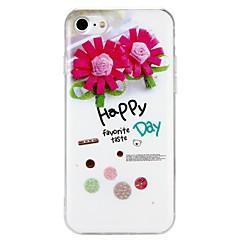 Недорогие Кейсы для iPhone 7-Кейс для Назначение Apple iPhone 6 iPhone 7 С узором Кейс на заднюю панель Слова / выражения Цветы Сияние и блеск Твердый ПК для iPhone 7