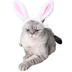 お買い得  猫の服-ネコ 犬 飾り 犬用ウェア 動物 ヘッドピース 愛らしいです カラーブロック ピンク コスチューム ペット用