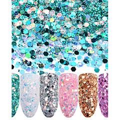 abordables Modelado de Diamantes Sintéticos-6 Glitters Brillos Y Estrellas Glitter Powder Lentejuelas Nail Art Design