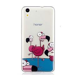 Недорогие Чехлы и кейсы для Huawei серии Y-Кейс для Назначение Huawei Y6 II / Honor Holly 3 Nova С узором Кейс на заднюю панель Фламинго Мягкий ТПУ для Huawei Y6 II / Honor Holly 3