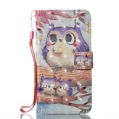 Недорогие Кейсы для iPhone X-Кейс для Назначение Apple iPhone X iPhone 8 Бумажник для карт Кошелек со стендом Чехол Сова Твердый Кожа PU для iPhone X iPhone 8 Pluss