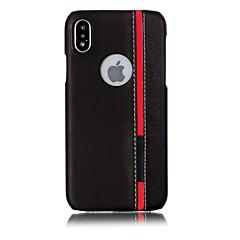 Недорогие Кейсы для iPhone 7-Кейс для Назначение Apple iPhone X iPhone 8 С узором Кейс на заднюю панель Полосы / волосы Твердый Кожа PU для iPhone X iPhone 8 Pluss