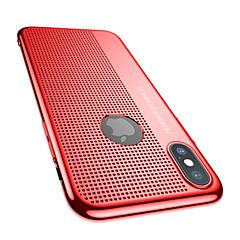 Недорогие Кейсы для iPhone-Кейс для Назначение Apple iPhone X Защита от удара Ультратонкий Сплошной цвет Твердый для