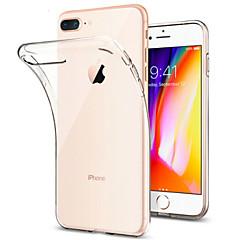 Недорогие Кейсы для iPhone-Кейс для Назначение Apple iPhone 8 iPhone 7 Plus Защита от удара Ультратонкий Прозрачный Прозрачный Мягкий для