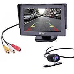 billige Bil Bakspejl Kamera-ziqiao 4,3 tommer skærm og hd bil bagkamera