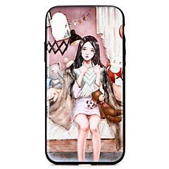 Недорогие Кейсы для iPhone-Кейс для Назначение Apple iPhone X iPhone 8 С узором Кейс на заднюю панель 3D в мультяшном стиле Твердый ПК для iPhone X iPhone 8 Pluss