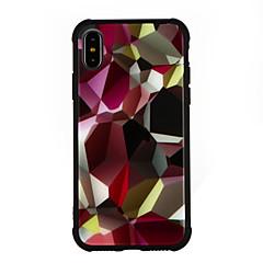Недорогие Кейсы для iPhone-Кейс для Назначение Apple iPhone X iPhone 8 Защита от удара С узором Кейс на заднюю панель Мультипликация Твердый Закаленное стекло для