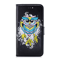 billige iPhone-etuier-Etui Til Apple iPhone 8 iPhone 8 Plus Kortholder Flip Mønster Fuldt etui Ugle Hårdt PU Læder for iPhone X iPhone 8 Plus iPhone 8 iPhone 7