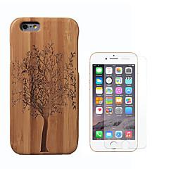 Недорогие Кейсы для iPhone-Кейс для Назначение Apple iPhone 6 Защита от удара Чехол дерево Твердый Бамбук для iPhone 6s iPhone 6